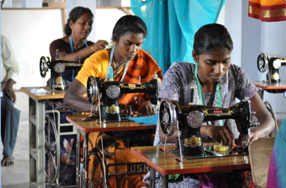 Sewing the Seeds teach women to sew - to break the cycle of poverty