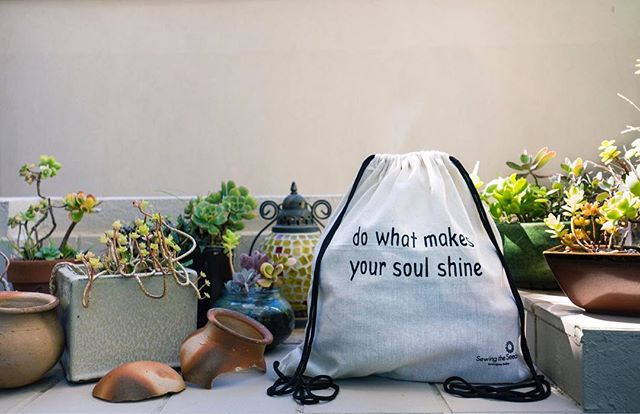 Make your soul shine with our new backpacks ⭐️ Grab them on our website at sewingtheseeds.org
