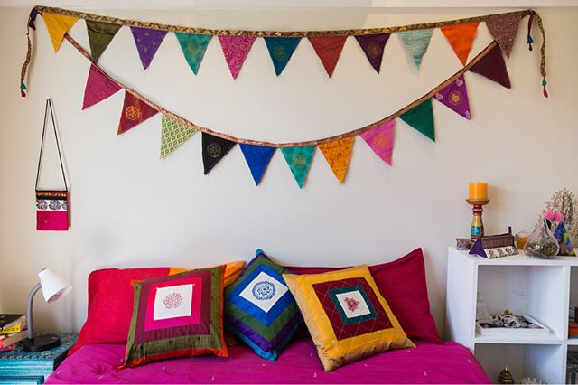 We don't shy away from colour, we celebrate it! Grab one of your beautiful flag hangings at sewingtheseeds.org