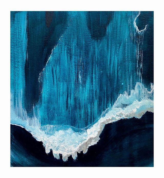 A friend sent an aerial photo of the ocean, I loved it so much I painted it. 🌊🌊🌊🌊