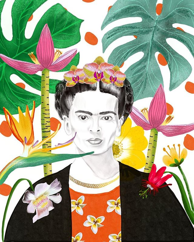 I have been studying the lives of women artists and want to pay tribute to these amazing women. I love doing portraits but sometimes it drives me crazy to not be able to capture someone perfectly. #lillarogers and #makeartthatsells are teaching me that everyone has a style and perfection is not the goal ✨I hope Frida is recognizable because I have very much enjoyed her company.