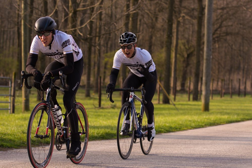 Men's B TTT finishing with two riders, Chris Anthony and Jason Sohn.  photo by Vishrut Garg