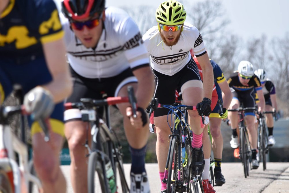 Jacob Shupe and Justin Miller in Men's A Crit photo by Fred Feng