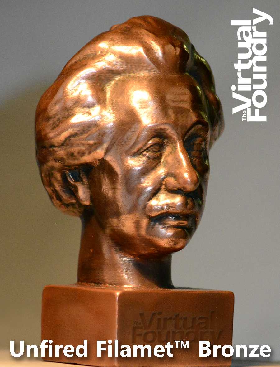 Einstein in Filamet™ Bronze