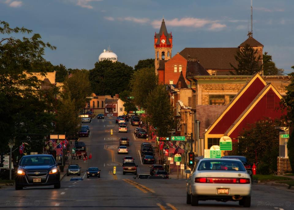 Looking at Downtown Stoughton