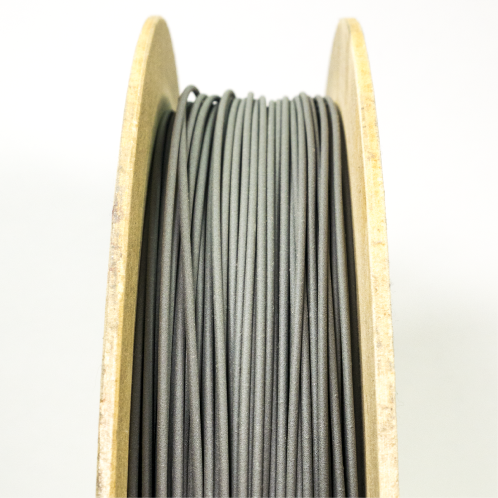 Stainless Steel 316L Filament - Stainless Steel 316L Filamet™ contains at least 80% metal. Filamet™ enables any Fused Filament Fabrication printer to produce metal objects. Once fired in a kiln, the result is 100% metal.