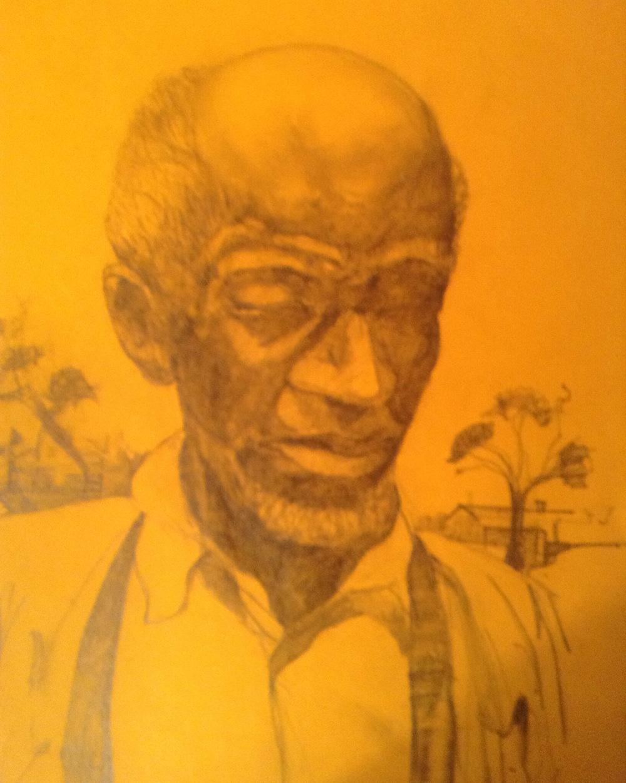"Mr. Mac, graphite on paper, 11""x 8"""