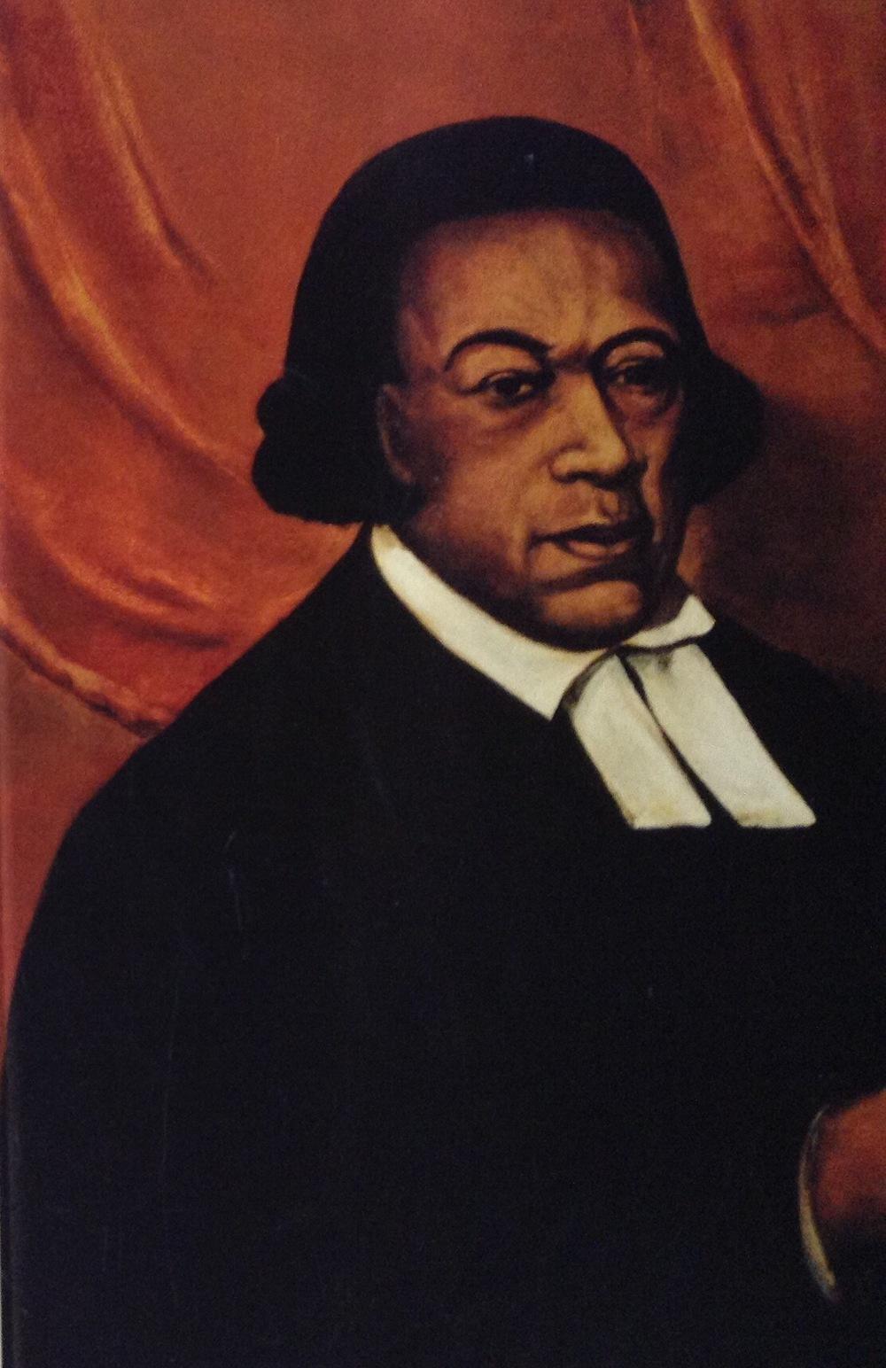 "Absolom Jones, oil on canvas, 36 x 26"""