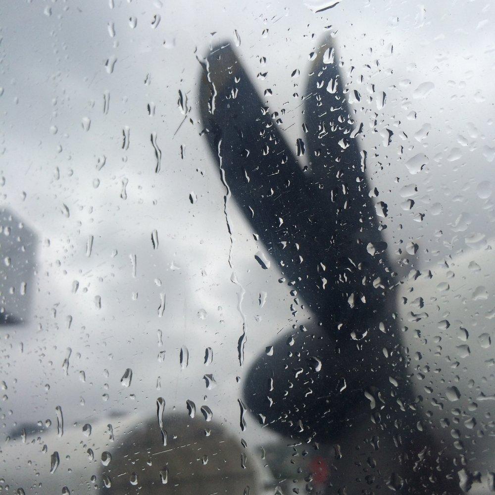 Rainy flight on a prop plane - September 2016