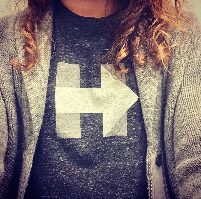 10 hour day at school but my Hillary t-shirt kept me going.