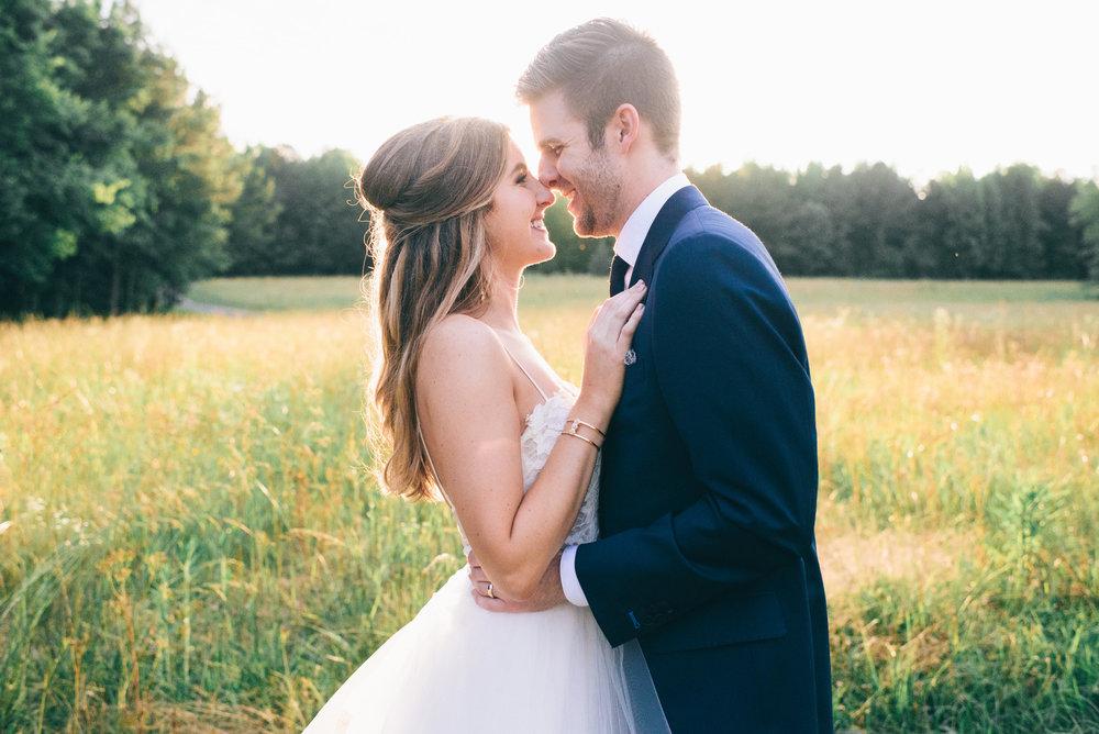 Dreamy Southern Wedding in Open Field