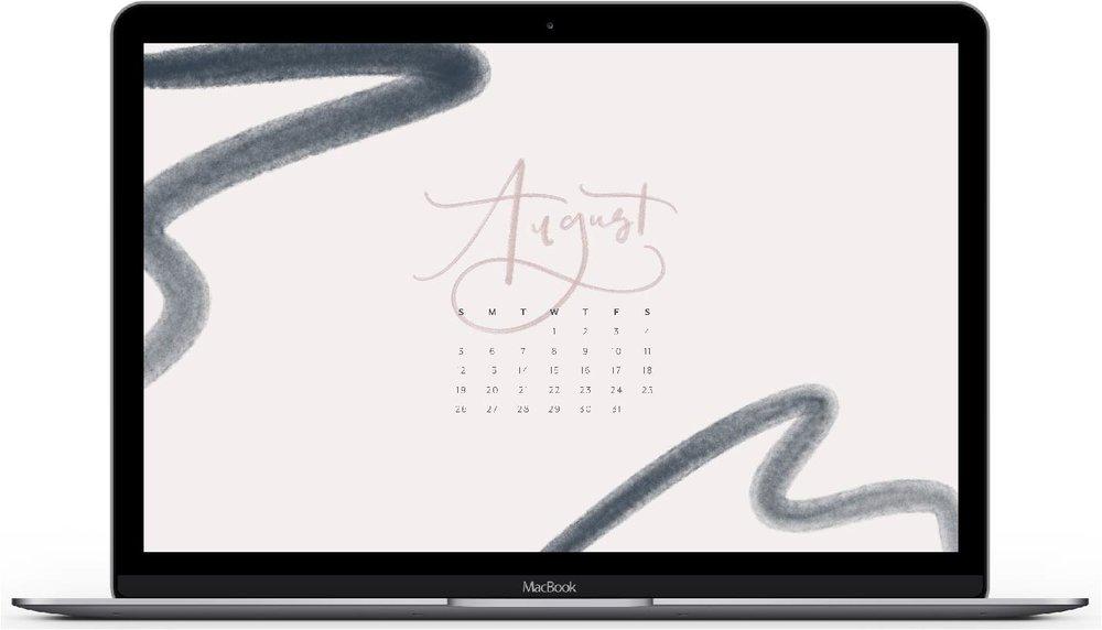 August 2018 Calendar Desktop & iPhone Wallpaper