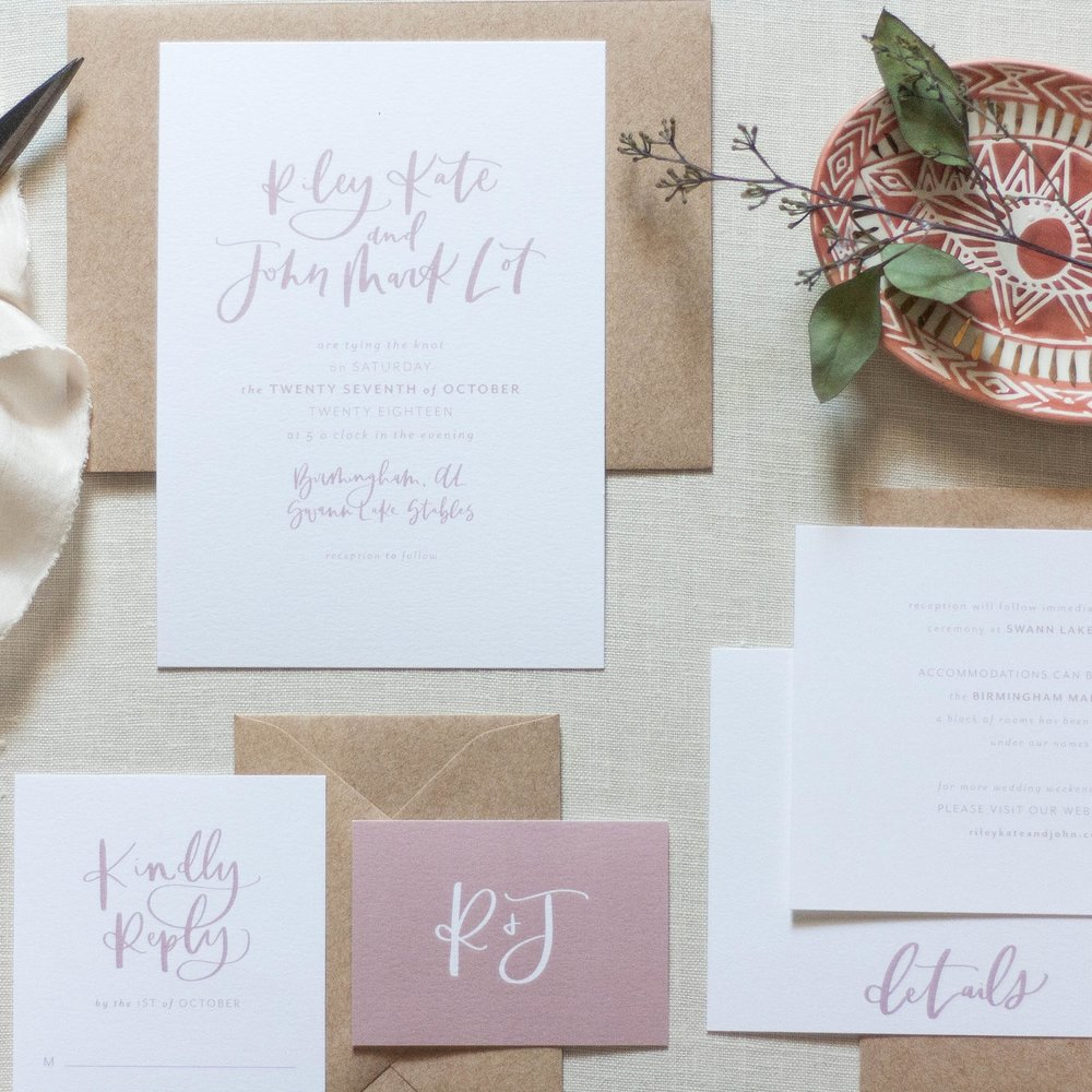 Modern Blush Wedding Stationery