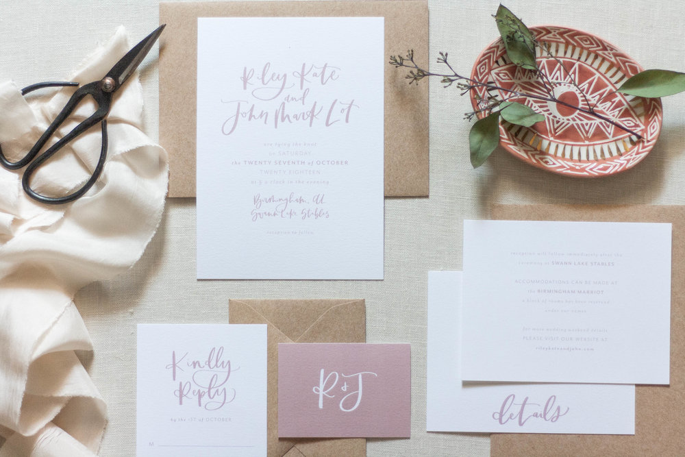 Modern Blush Wedding Stationery & Inspiration | The Riley Kate Suite