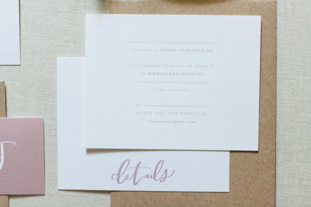 Modern Blush Wedding Stationery & Inspiration | The Riley Kate Suite