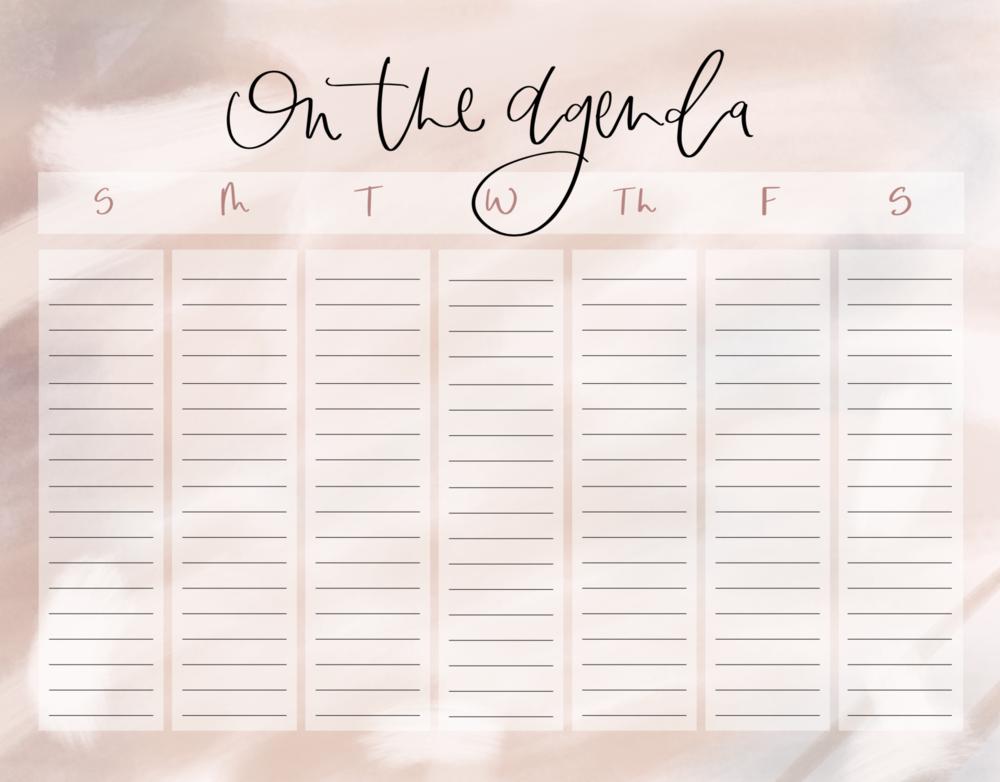 Weekly Calendar    Free Download