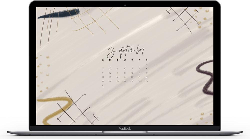 September 2018 Calendar Desktop & iPhone Wallpaper