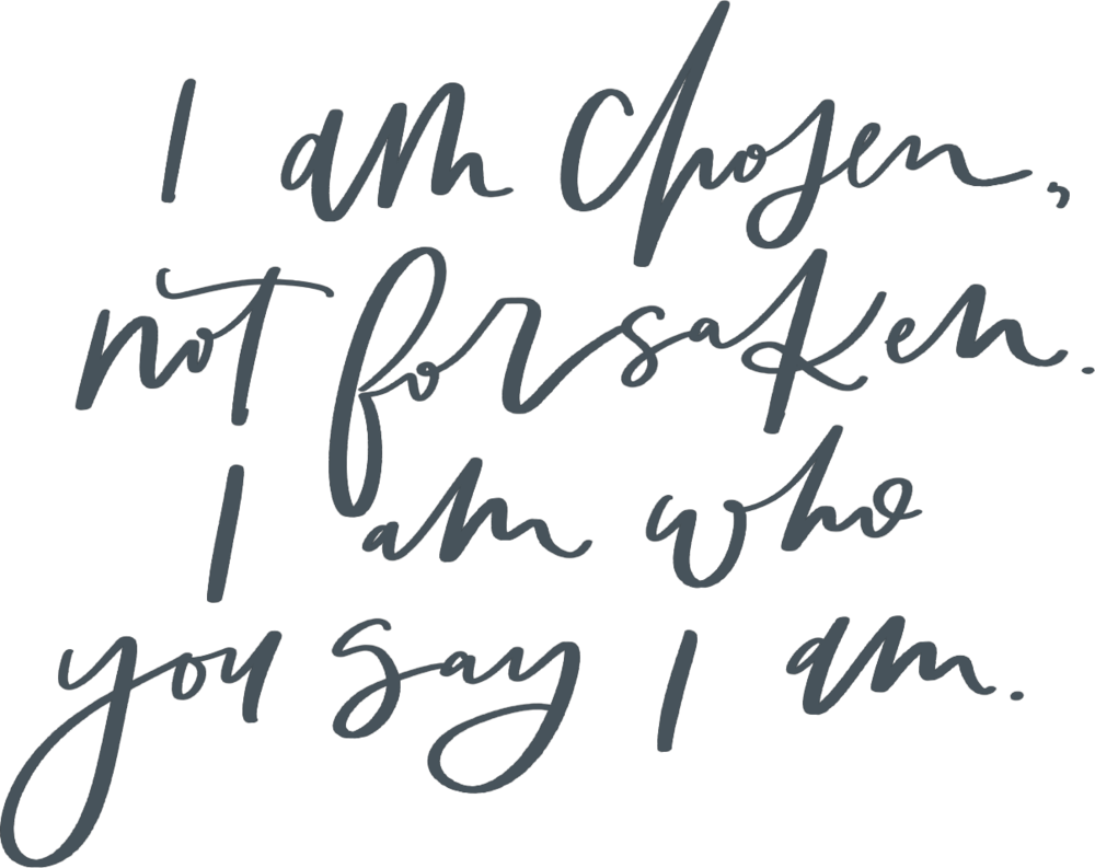 I am who you say I am - Free printable
