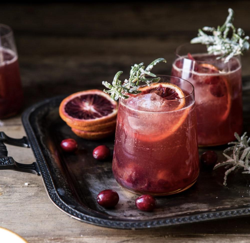 Cranberry Spritzers - Half Baked Harvest