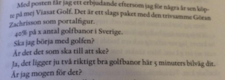 """Suddigt utdrag ur """"Visenterna"""" (via svenskgolf.se)"""