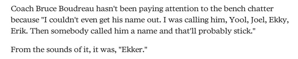 Wilds coach citerad ur dagens Minnesota Star Tribune, alltså typ Minnesotas NWT.