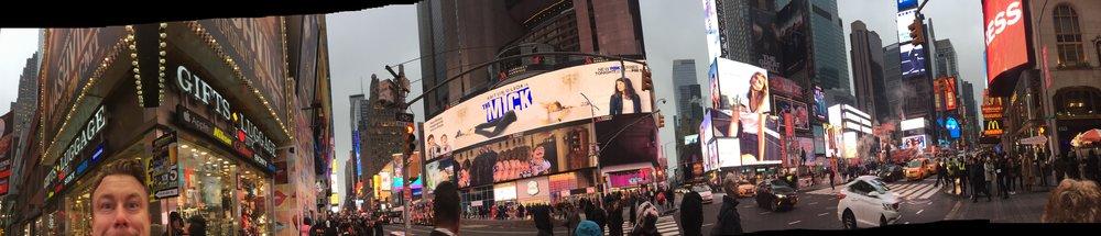 Times square, New York. Och jag.