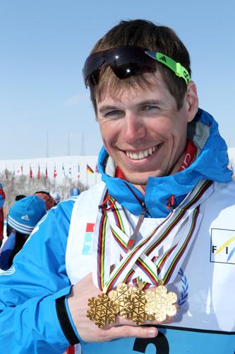 Sergej Ustiugov på den tiden han var lycklig.
