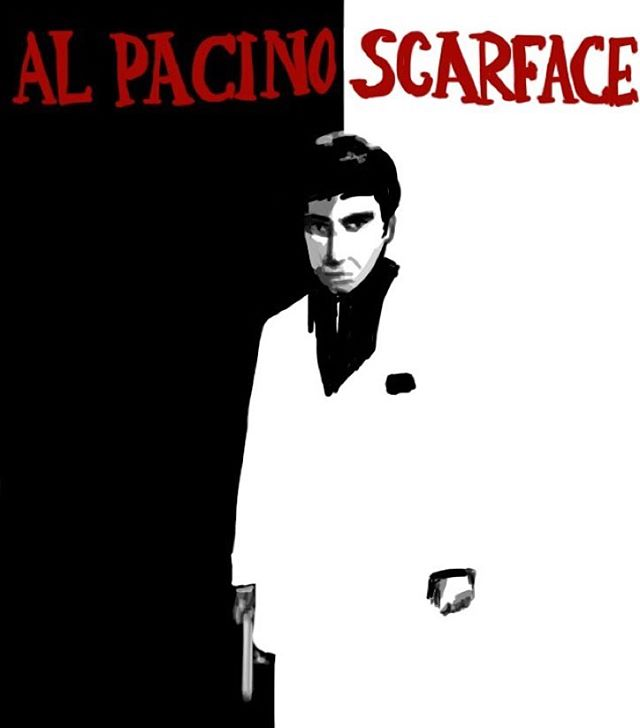 Scarface #imposterposters #scarface #briandepalma #alpacino #thriller #drama #movie #film #sketch #artwork #poster #mystery #iphoneart #instadaily #instagood #follow #sketchapp