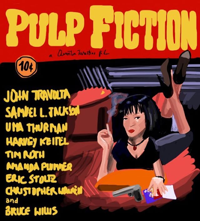 Pulp Fiction #imposterposters #pulpfiction #tarantino #umathurman #johntravolta #samuelljackson #crime #drama #quentintarantino #movie #film #sketch #artwork #poster #mystery #iphoneart #instadaily #instagood #follow #sketchapp
