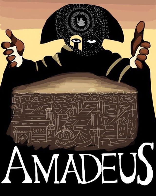 Amadeus #imposterposters #amadeus #milosforman #mozart #drama #salieri #biopic #classic #movie #film #sketch #artwork #poster #iphoneart #instadaily #instagood #follow #sketchapp