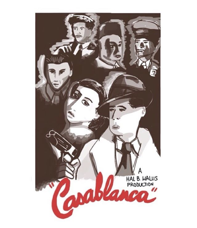 Casablanca #imposterposters #casablanca #hollywood #filmposter #humphreybogart #ingridbergman #romance #cinema #movie #film #sketch #artwork #iphoneart #instadaily #instagood #follow