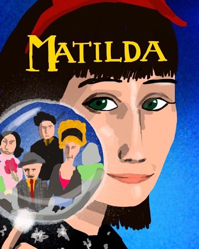 Matilda #imposterposters #matilda #filmposter #misstrunchbull #misshoney #dannydevito #roalddahl #familyfilm #cinema #classic #movie #film #sketch #artwork #poster #iphoneart #instadaily #instagood #follow