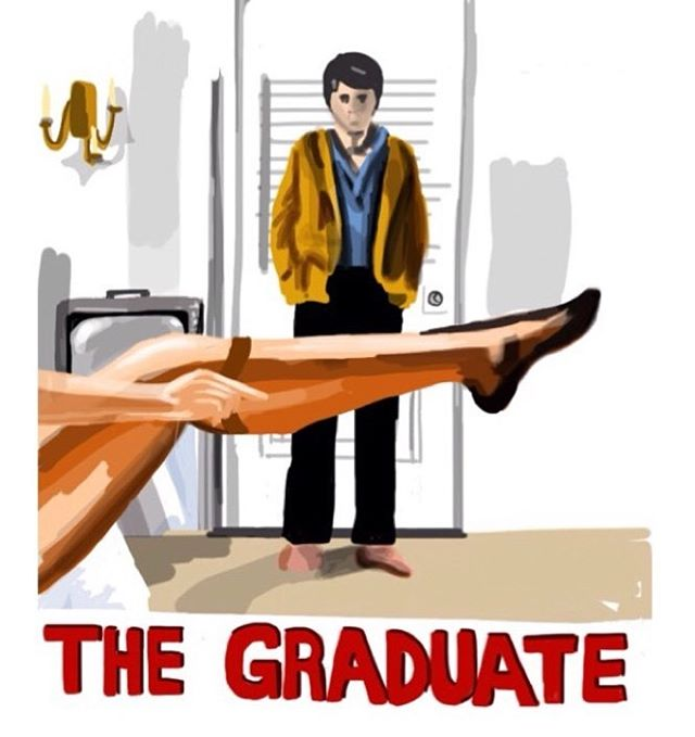 The Graduate #imposterposters #thegraduate #dustinhoffman #filmposter #simonandgarfunkel #mrsrobinson #areyoutryingtoseduceme #comedy #drama #cinema #classic #movie #film #sketch #artwork #poster #iphoneart #instadaily #instagood #follow