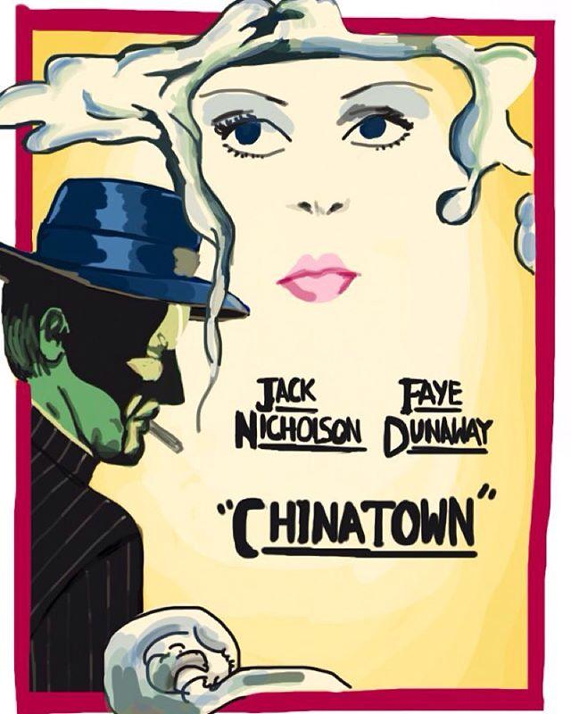 Chinatown #imposterposters #chinatown #romanpolanski #jacknicholson #filmnoir #fayedunaway #polanski #movie #film #sketch #artwork #poster #mystery #iphoneart #instadaily #instagood #follow #sketchapp