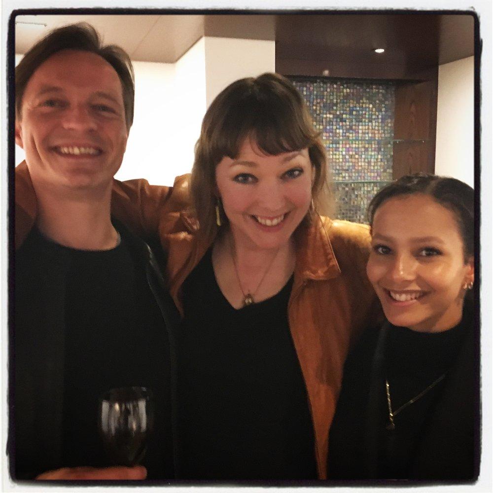 M. G. Leonard with Thomas Whitehead and Francesca Hayward of The Royal Ballet.