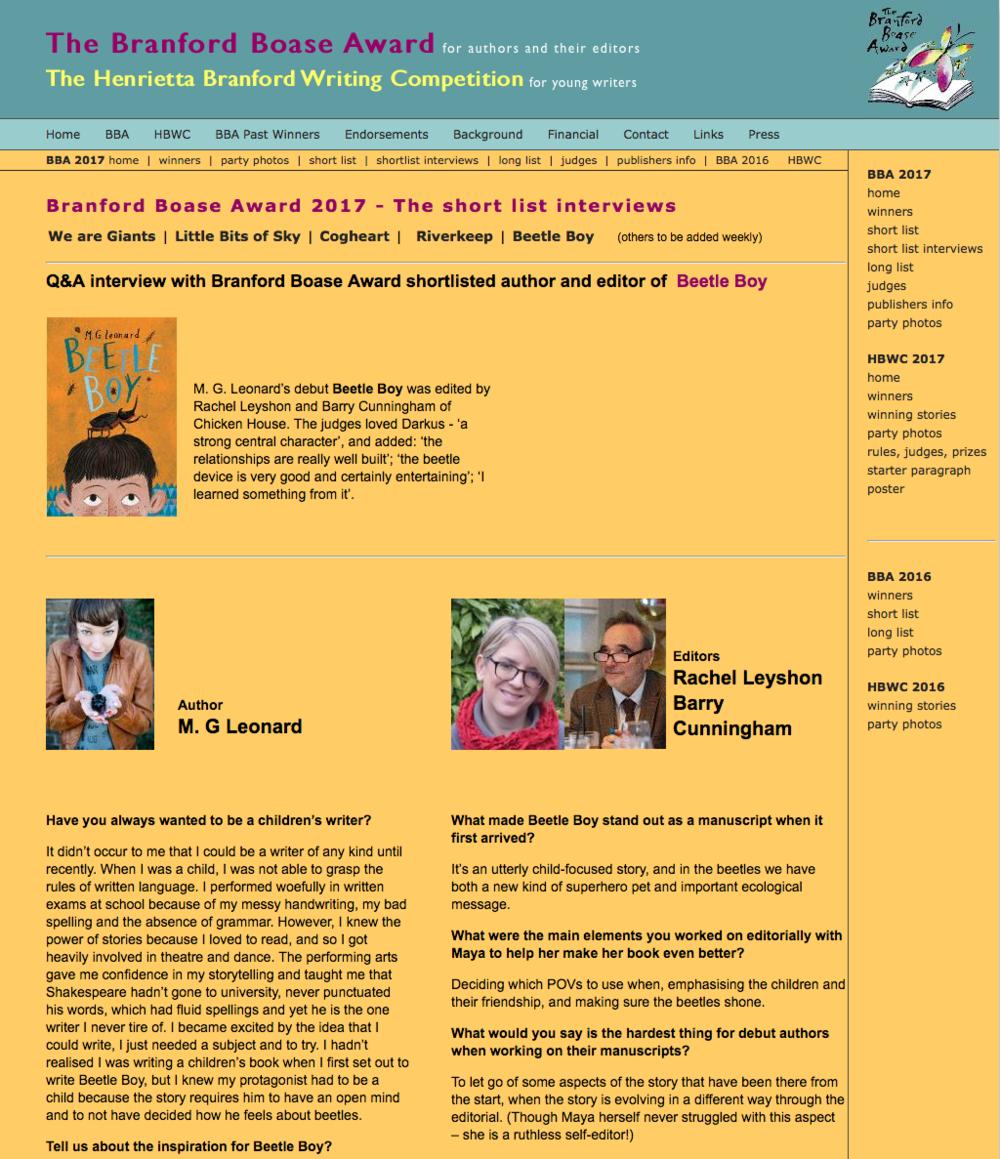 Branford Boase Interview