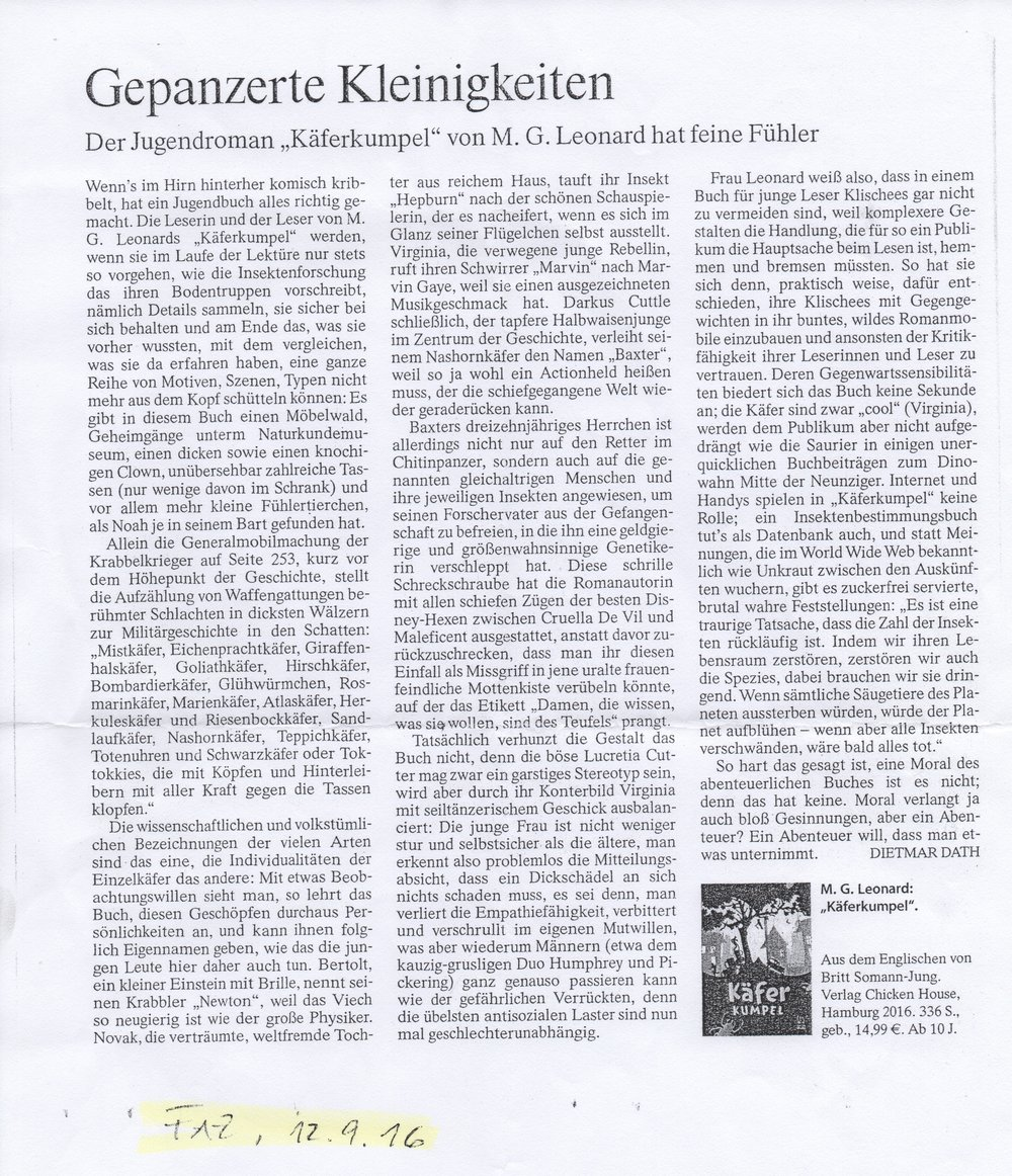 Review in Frankfurter Allgemeine Zeitung