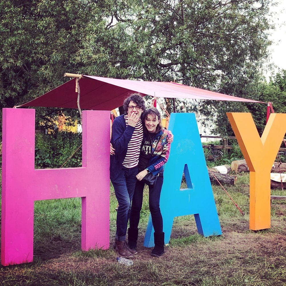Me with wonderful author James Nicol, one of my favourite pictures from Hay 2018