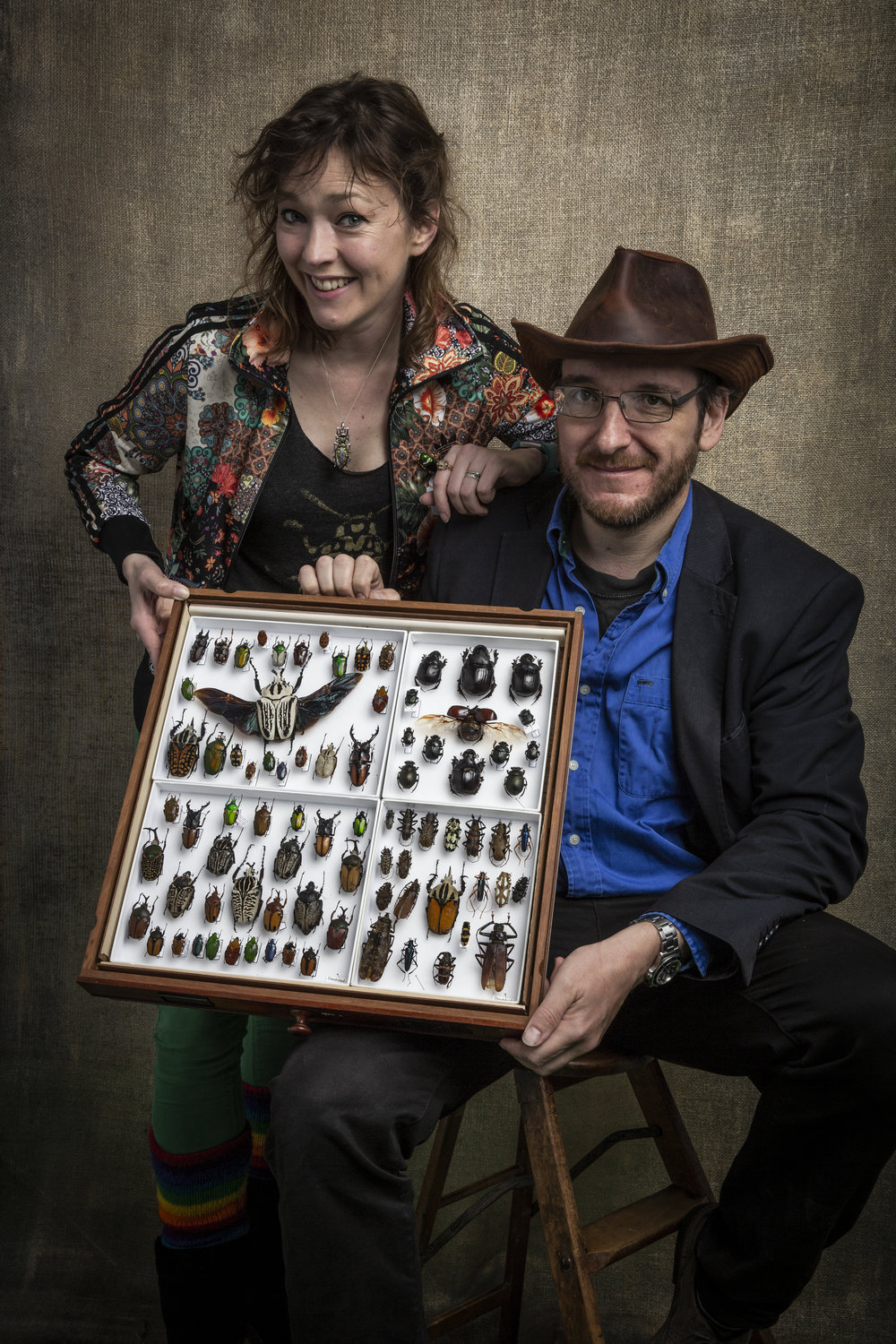 M. G. Leonard with Max Barclay - Head Coleopterist at the Natural History Museum  Photo: Paul Mussos for Hay Festival 2018