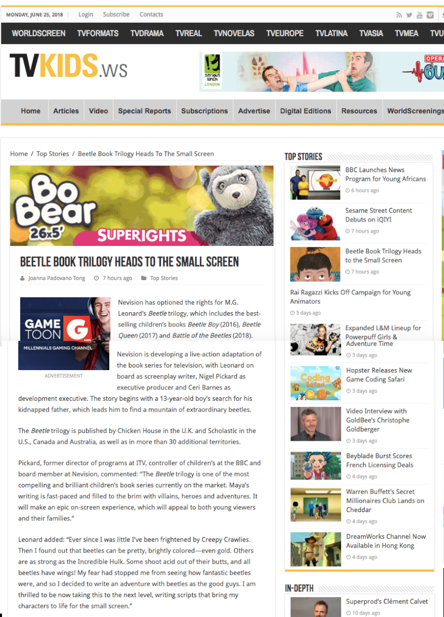 WorldScreen Kids  News Piece