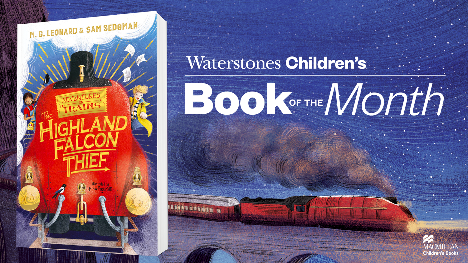 The Highland Falcon Thief is Waterstones Children's Book of the Month — M.  G. Leonard