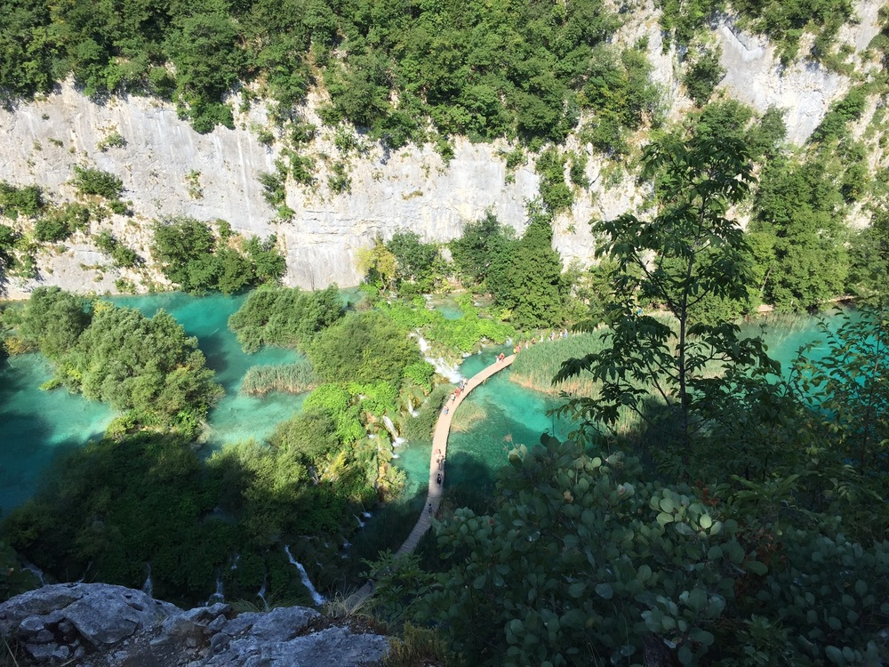 Plitvice from higher up