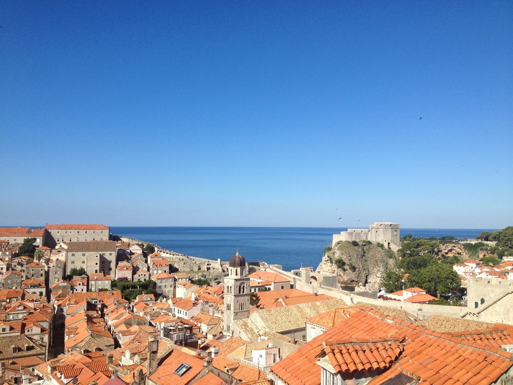 The view of Dubrovnik from the city wall