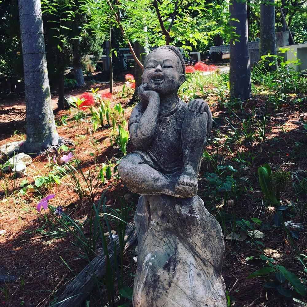 The garden's guard 😁