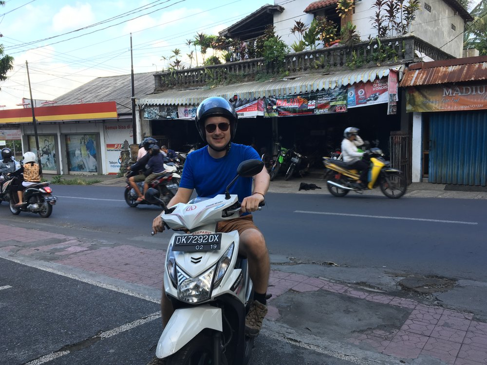Ian on the bike