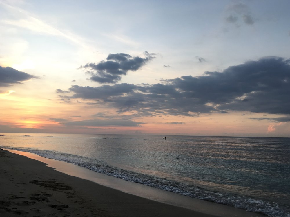 The sunset view from Gili T