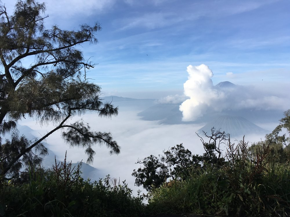 The Quiet Romantic Sunrise Viewpoint Over Mount Bromo