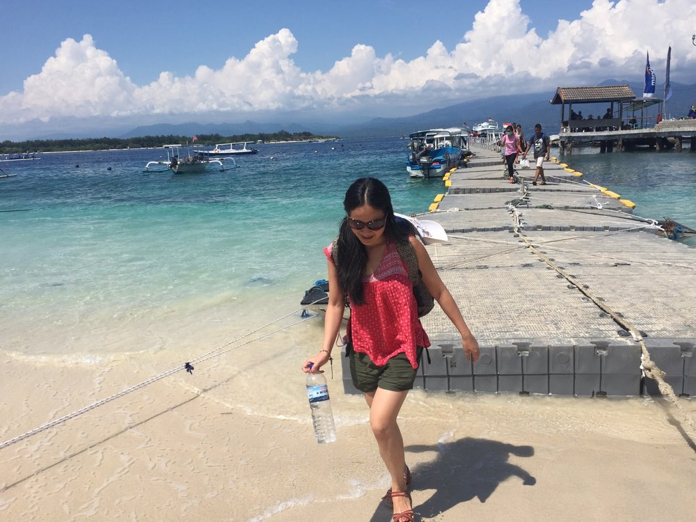Arriving at Gili Trawangan