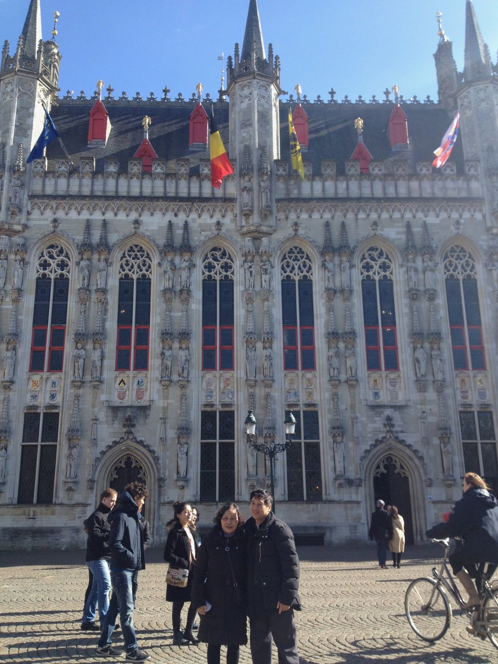 My parents in Brugge