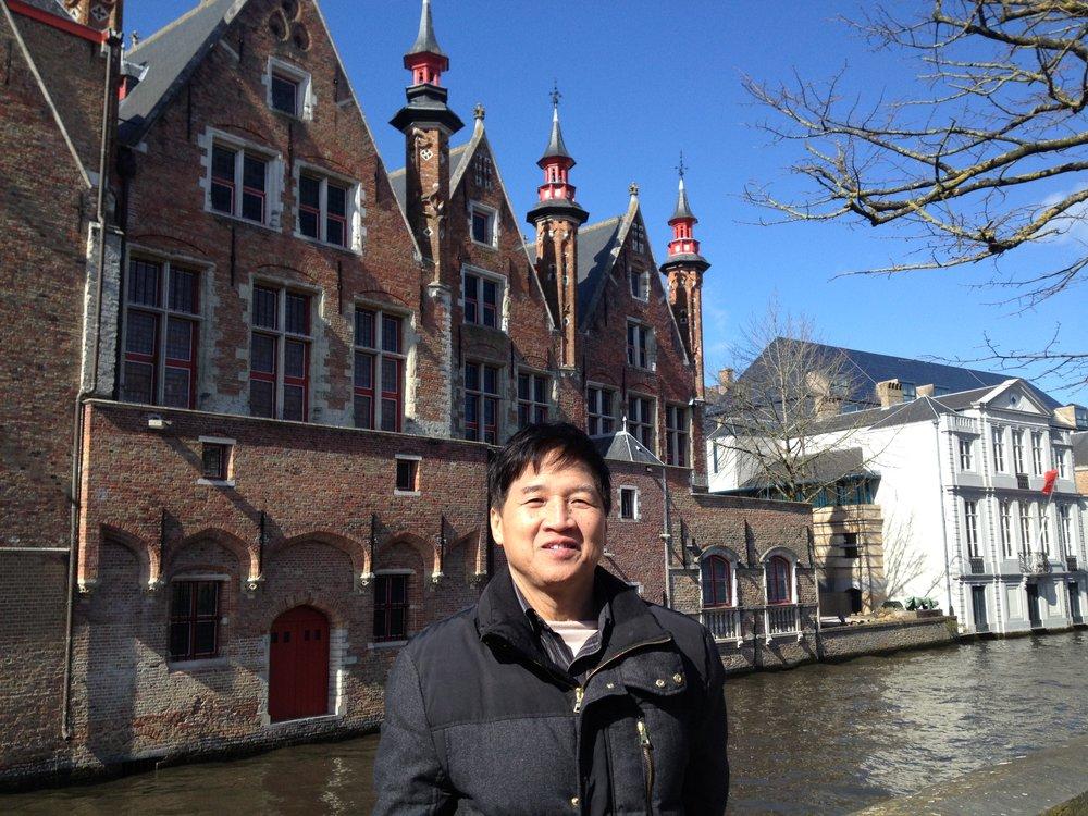 My dad in Brugge